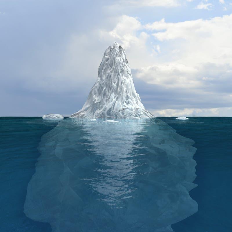 冰山 皇族释放例证