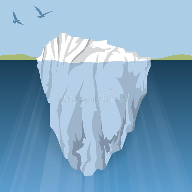 冰山 向量例证