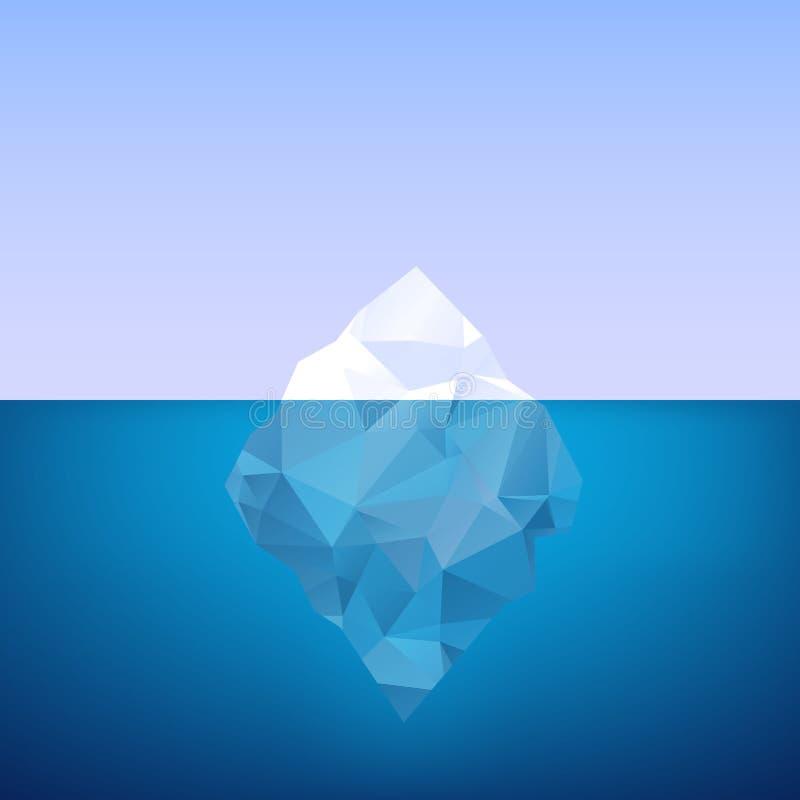 冰山 库存例证
