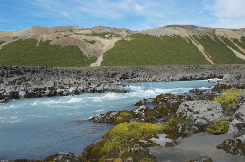 冰岛内部 库存照片