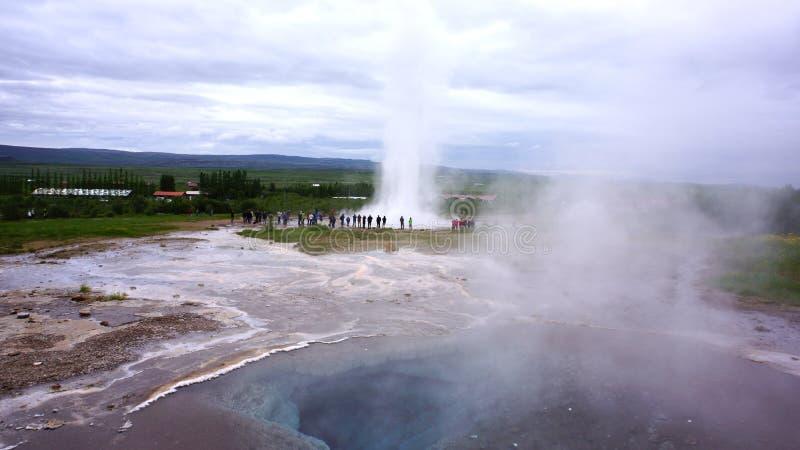 冰岛喷泉 免版税库存照片