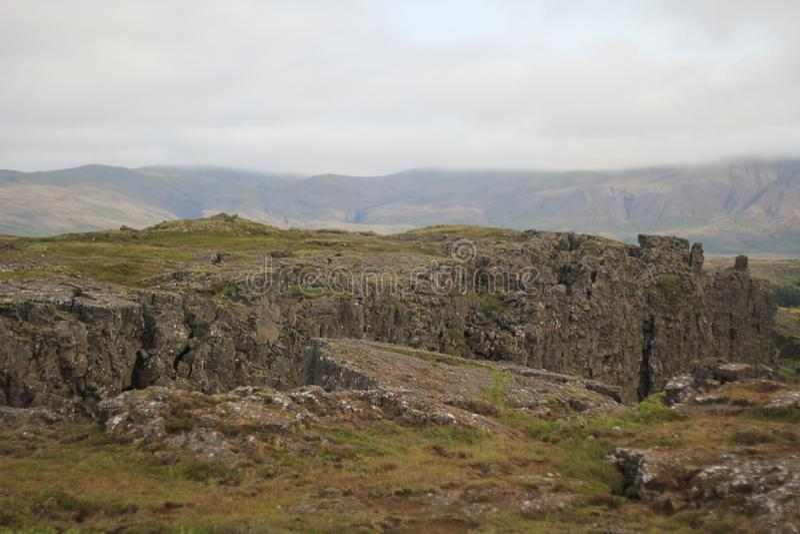 冰岛小山顶 免版税库存照片