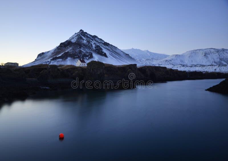 冰岛山 免版税库存照片