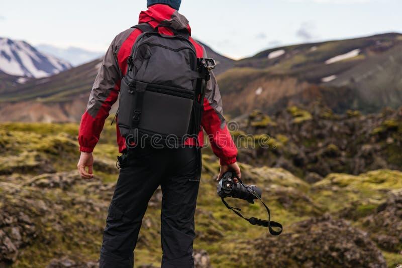 冰岛摄影师 免版税图库摄影