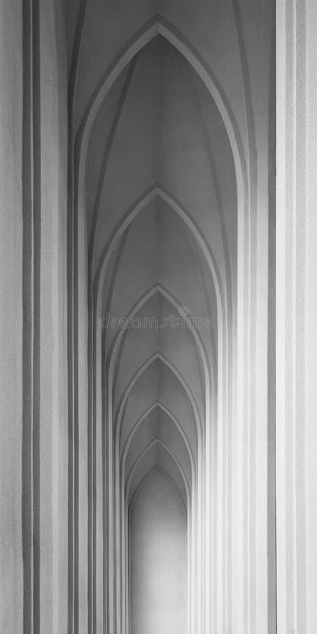 冰岛教会内部 免版税图库摄影