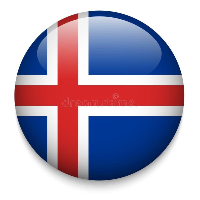 冰岛旗子按钮 皇族释放例证