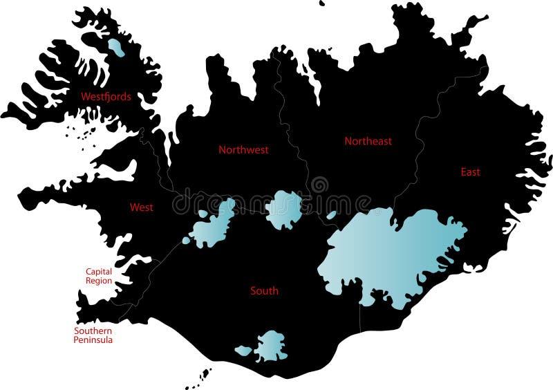 冰岛映射 皇族释放例证