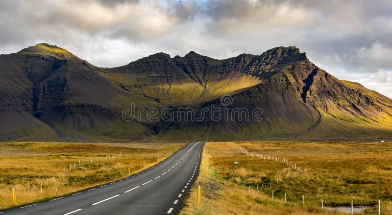 冰岛火山火山口 免版税库存照片
