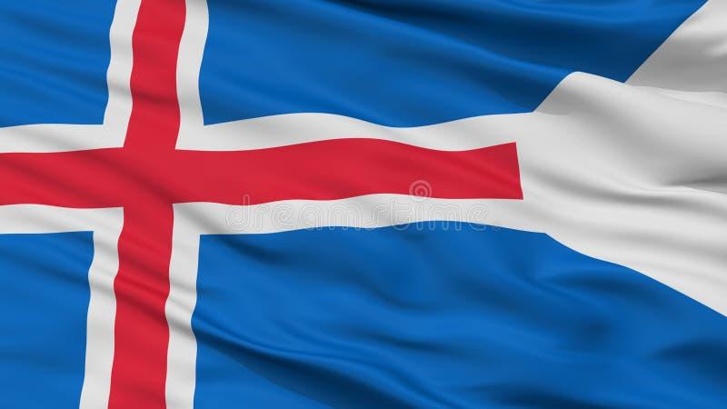 冰岛状态旗子特写镜头视图 库存例证