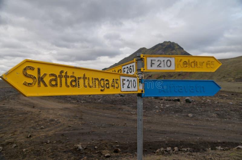 冰岛狂放的风景 库存照片