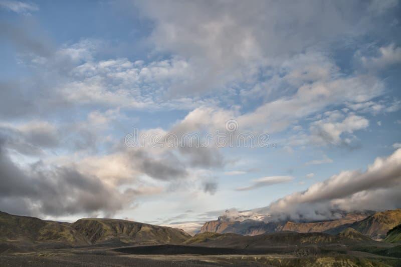 冰岛狂放的风景 图库摄影