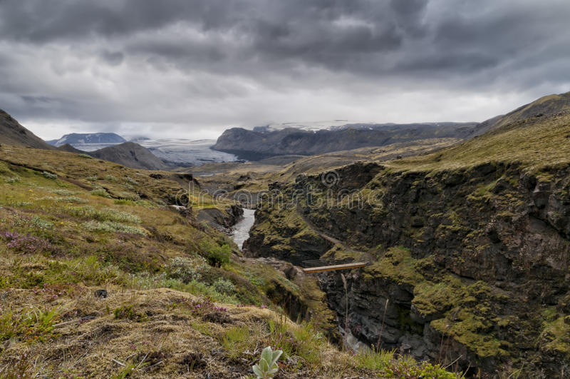 冰岛狂放的风景 免版税库存照片
