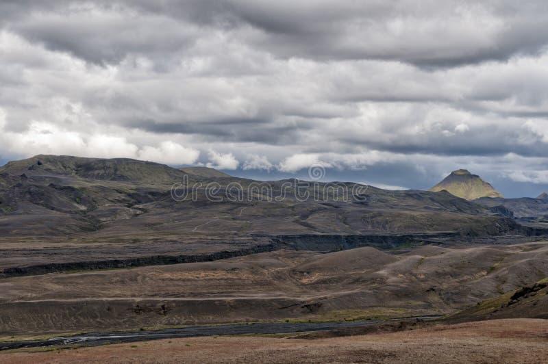 冰岛狂放的风景 库存图片
