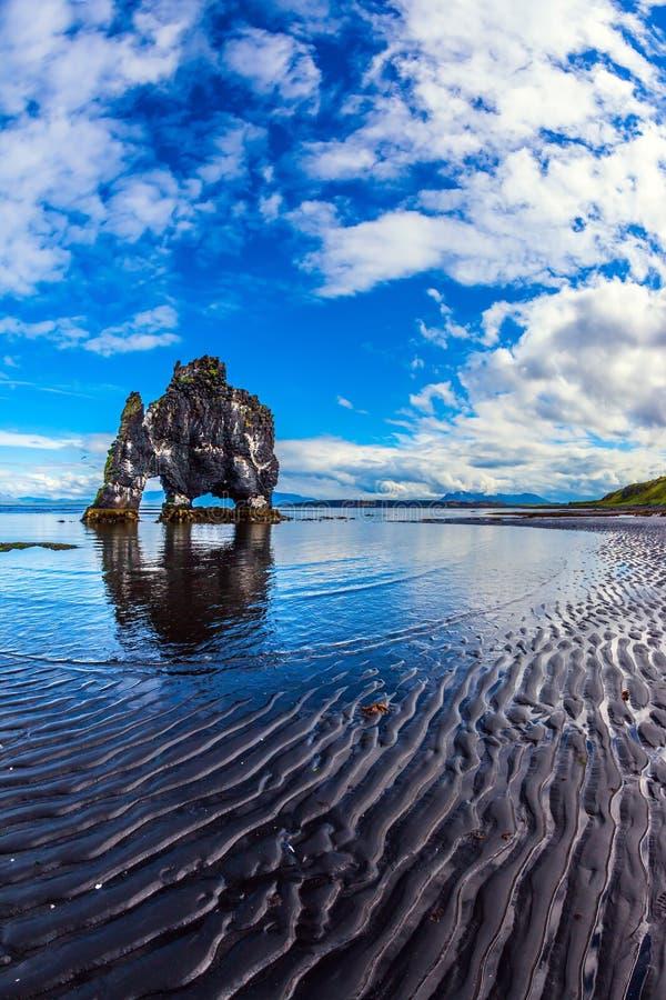 冰岛的北海岸 库存图片