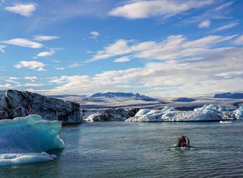 冰岛的著名冰川盐水湖 图库摄影