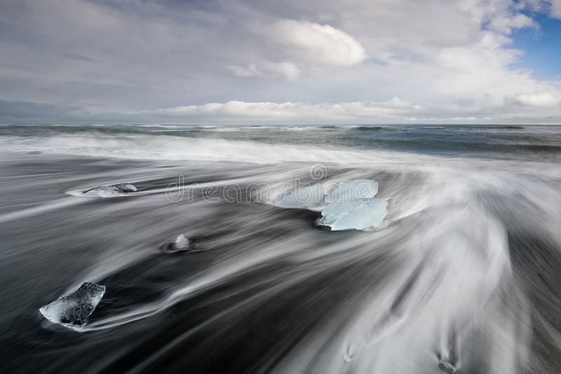 冰岛金刚石海滩, 库存照片