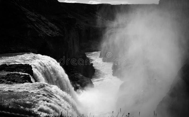 冰岛风景BnW 免版税库存照片