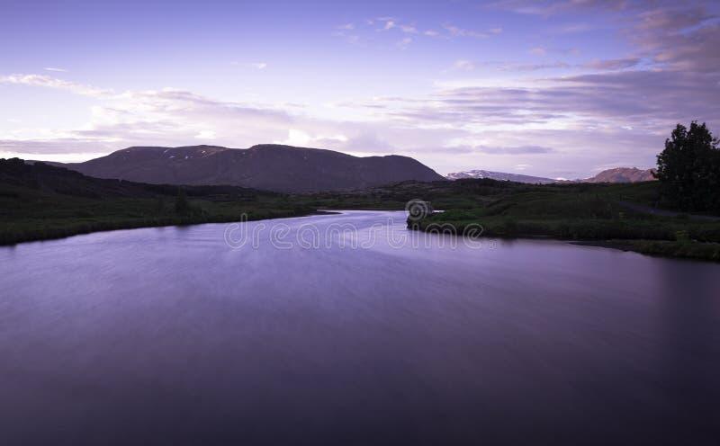 冰岛风景longexp 免版税图库摄影