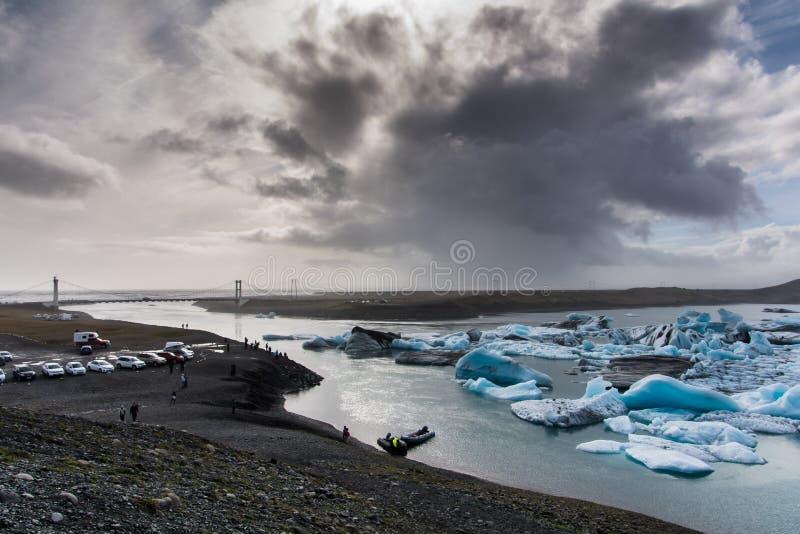 冰岛jokulsarlon湖 免版税库存图片