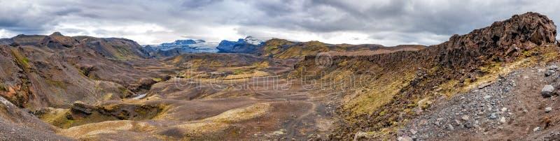 冰岛Landmannalaugar艰苦跋涉狂放的风景 库存图片