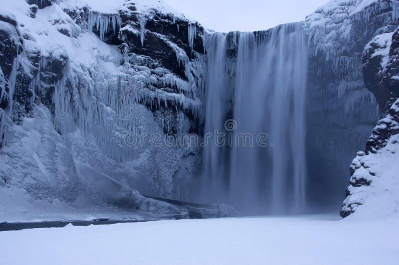 冰岛seljalandsfoss 图库摄影