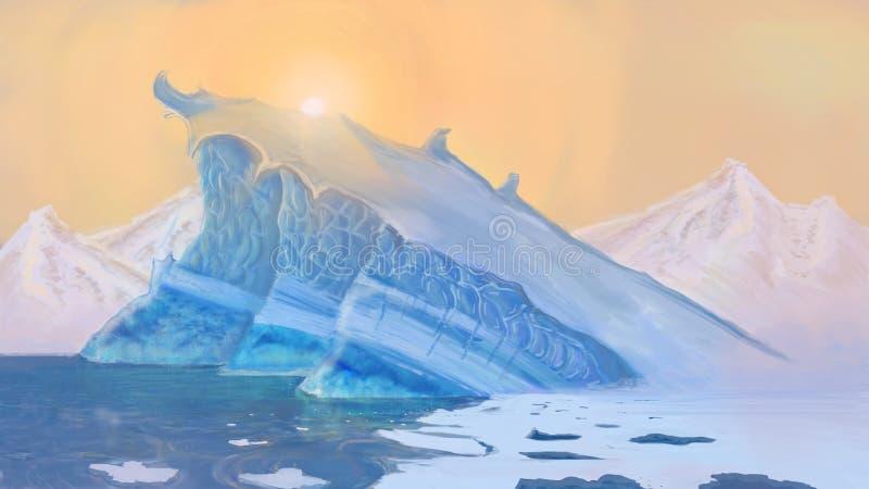 冰峭壁 库存照片