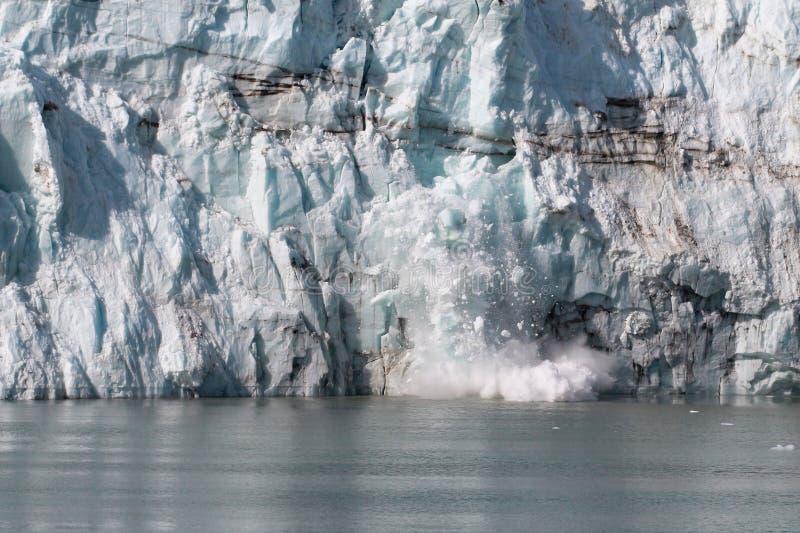 冰川产犊 图库摄影