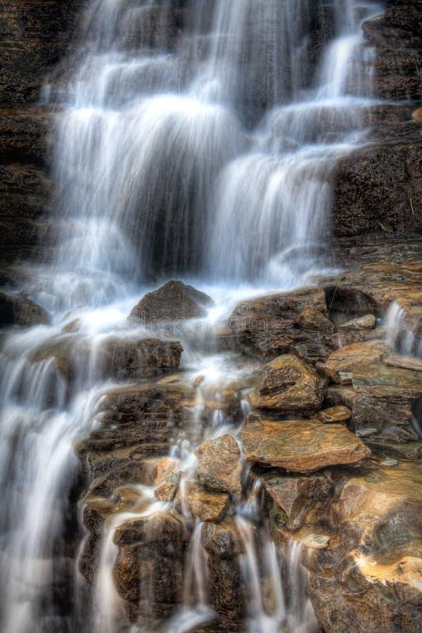 冰川公园瀑布 免版税库存图片
