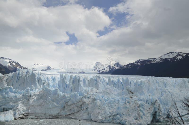 冰川和全球性变暖埃尔卡拉法特巴塔哥尼亚的阿根廷佩里托莫雷诺 免版税图库摄影