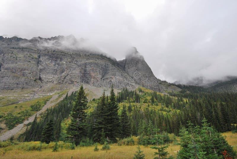 冰川国家公园在蒙大拿 库存图片