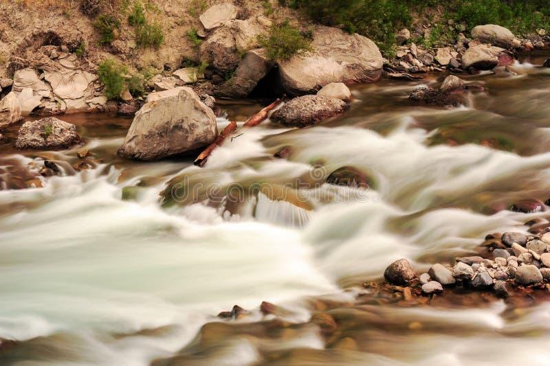 冰川国家公园采取的长的曝光 免版税库存照片