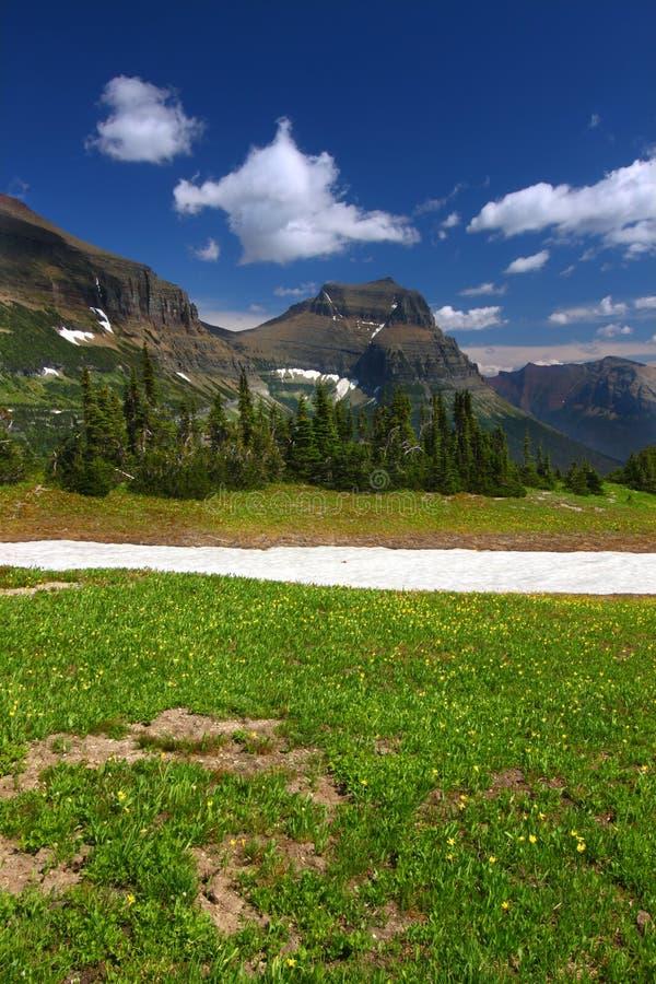 冰川国家公园风景 免版税库存照片