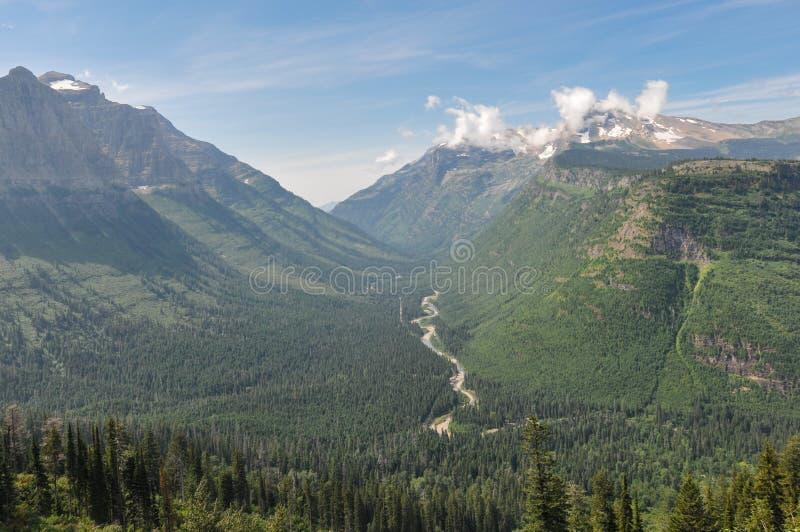 冰川国家公园,去对这太阳路,蒙大拿,美国 免版税库存图片