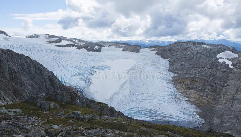 冰川挪威福尔格冰川 免版税图库摄影