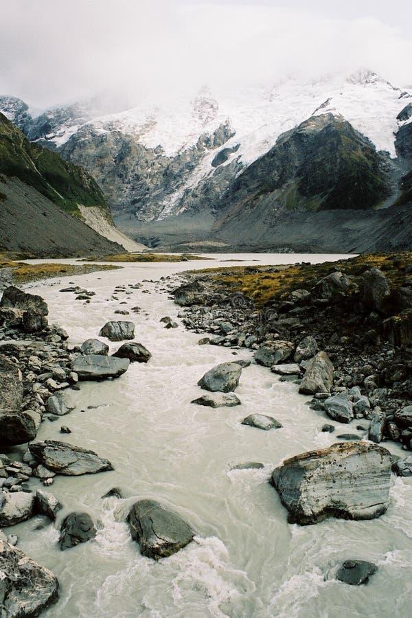 冰川横向 库存照片