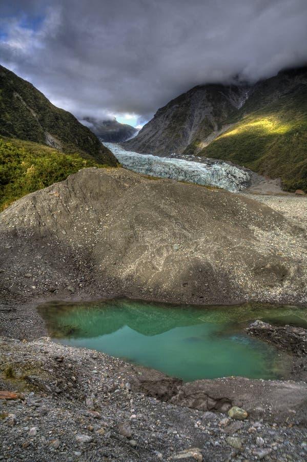 冰川池 免版税库存照片