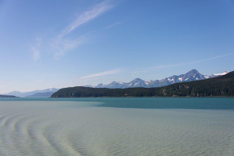 冰川沉积在阿拉斯加 免版税库存图片