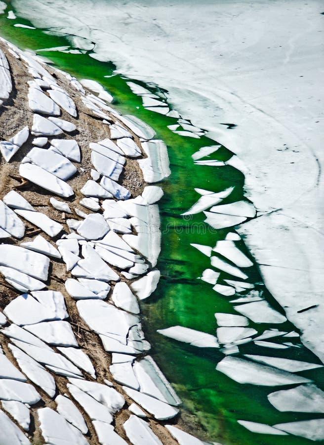 冰川熔化 库存照片
