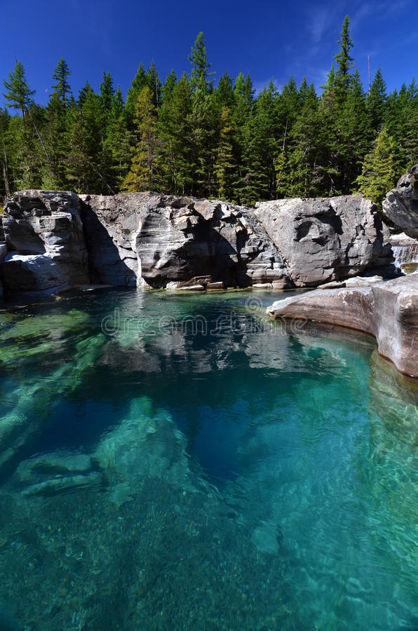 冰川玛丽・蒙大拿国家公园河st 免版税库存图片