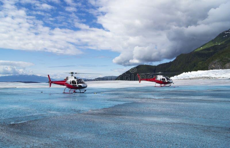 冰川直升机 免版税库存照片