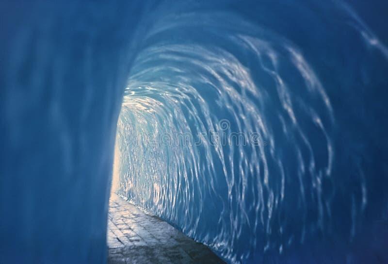 冰川罗讷隧道 免版税库存图片