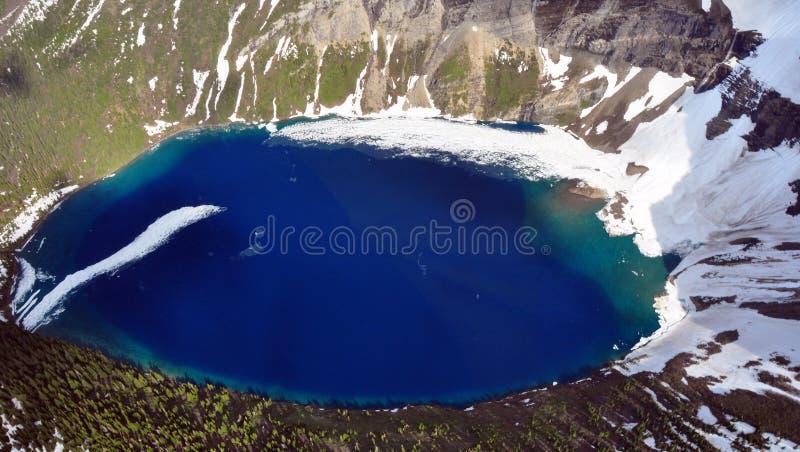 冰川肯尼迪湖国家公园 免版税库存照片