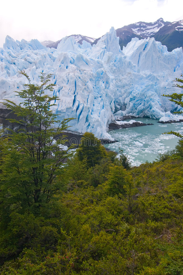 冰川莫尔诺巴塔哥尼亚perito 库存照片