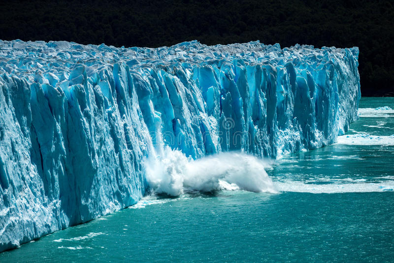冰川莫尔诺perito 库存照片