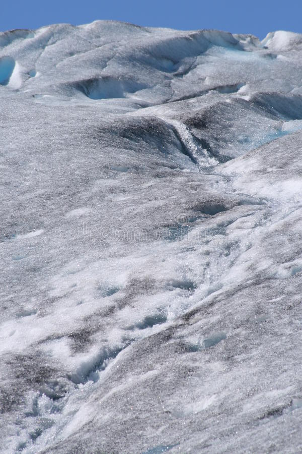 冰川表面瀑布 库存图片