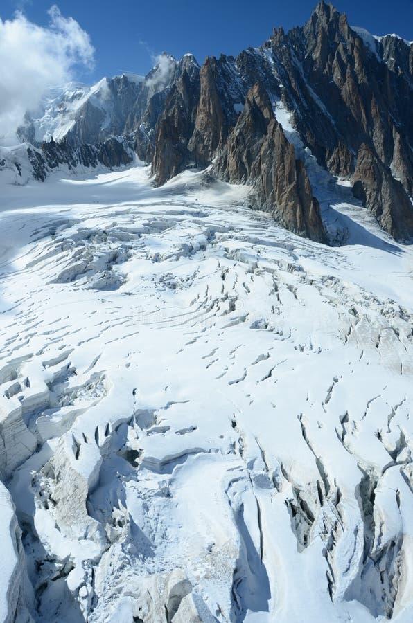 冰川裂隙 免版税库存照片