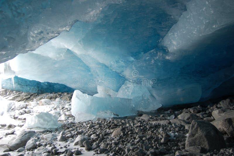 冰川洞 库存照片