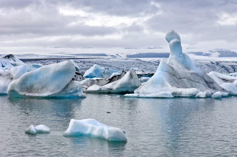 冰川jokulsarlon湖 免版税库存图片