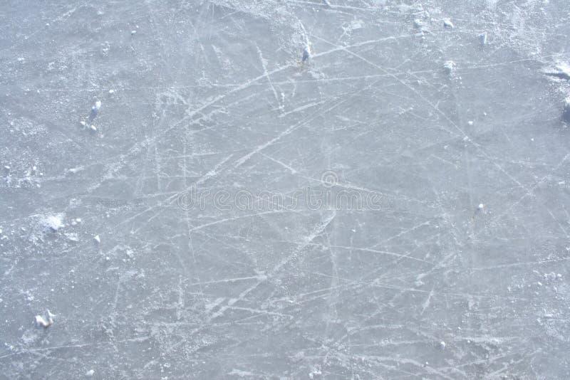 冰指示室外溜冰场冰鞋表面 库存照片