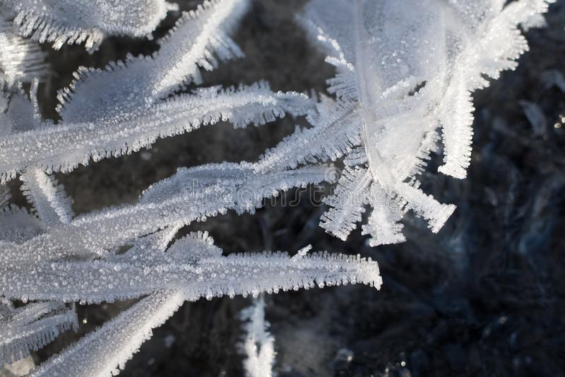 冰晶仿造冷天 免版税库存图片
